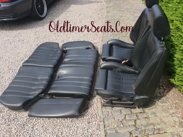e30 black leather rear seat touring sport interior