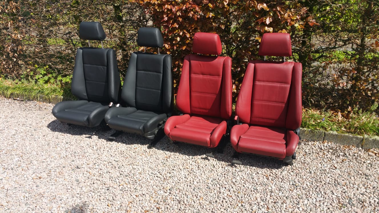 Bmw E30 Cabrio Sportseats Reupholstery New Leather Oldtimerseats Com