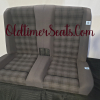 BMW E30 Convertible back seat in Uberkaro Anthrazit 0379 mint condition