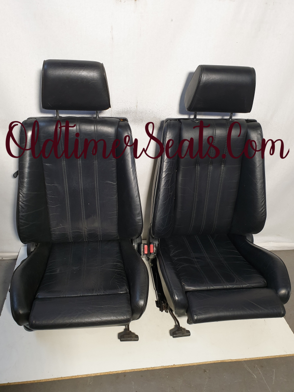 BMW E30 2-Doors Sport Seats Black Leather Refurbished