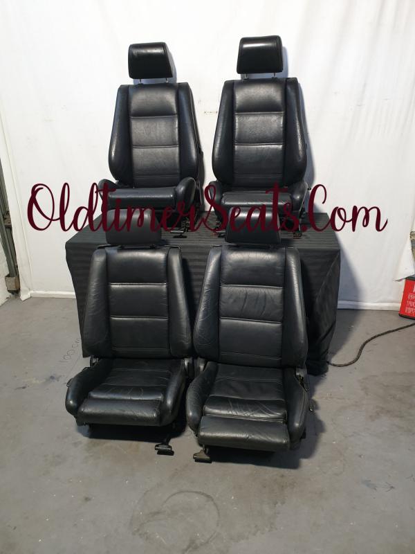 BMW E30 Convertible cabrio cabriolet lederen leather black sportseats sportstoel sport interieur interior innenausstattung