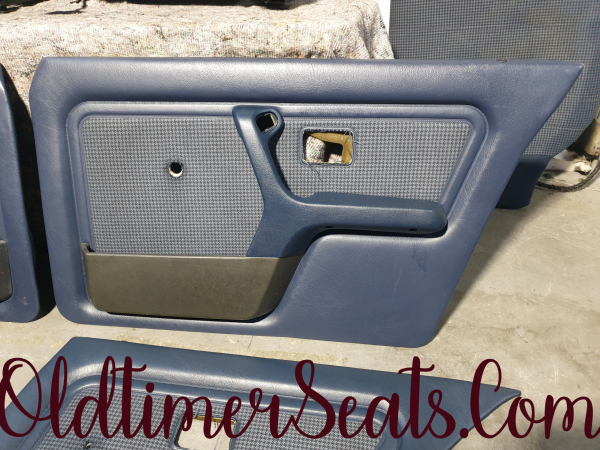 BMW E30 4 Door Sport Interior 0212 Pacific blue in mint condition