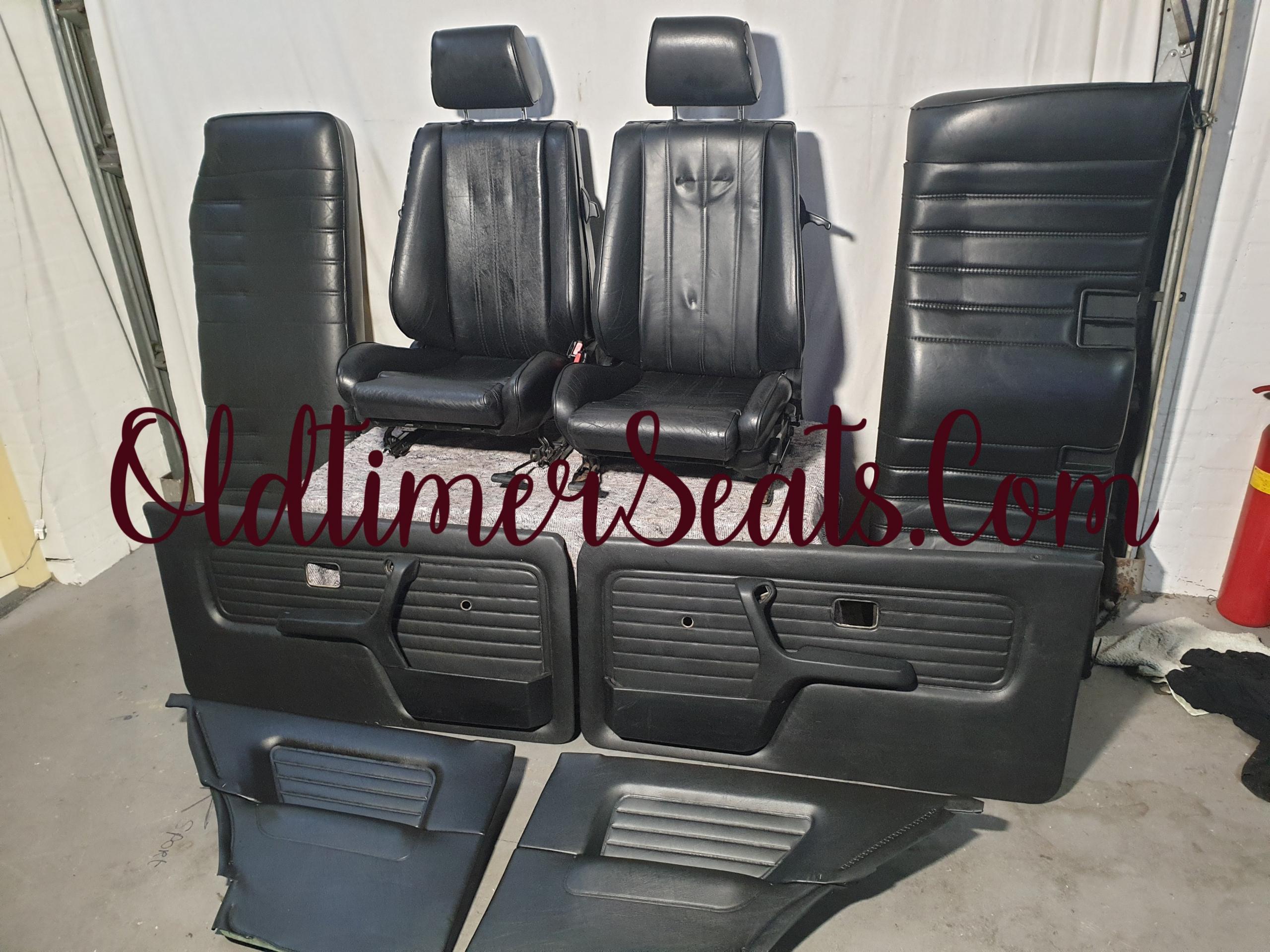 BMW E30 Black leather leder zwart leer sportstoelen sport stoel zetel zetels recaro interieur