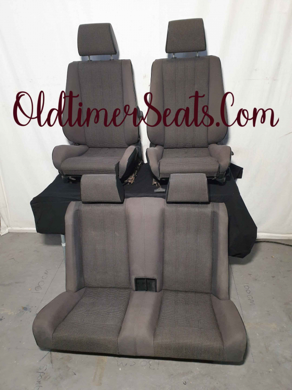 BMW E30 Convertible / Cabrio 0211 anthrazit antraciet grijs grey grau pied de poule hahnentritt 0211 sportsitze sportzetel zetel stoel sportstoel sport M3